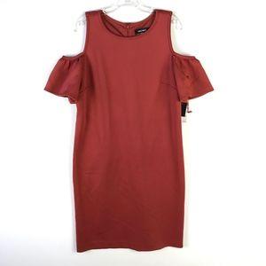Nine West Sheath Cold Shoulder Dress NWT #1262